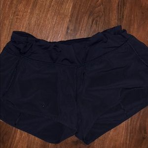 "Lululemon speed short 2"" size 8"